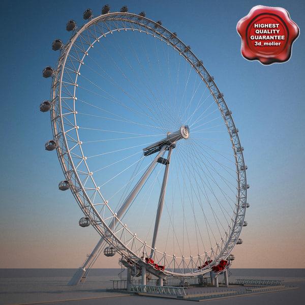 3d london eye model