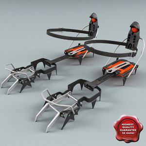 3d model rigid crampons