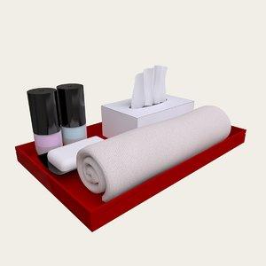hotel toiletries 3d model