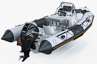 inflatable boat zodiac 550 3d model