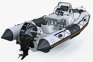 inflatable boat zodiac 550 3d model