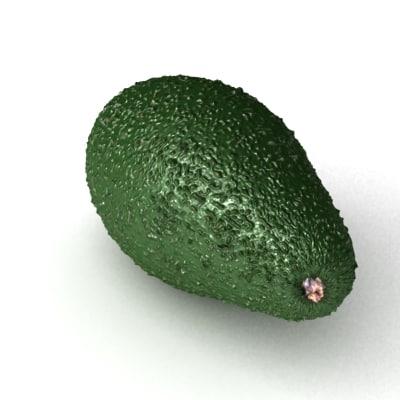 avocado 3d max