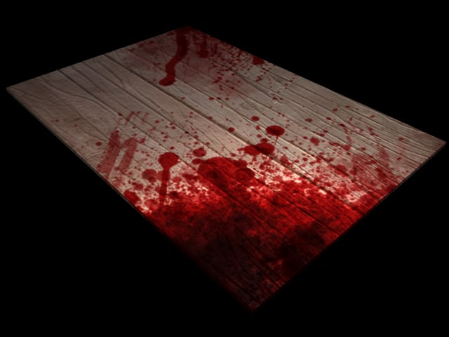 3d bloody table model