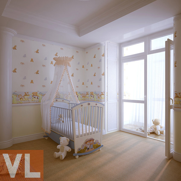 3d nursery interior classic model