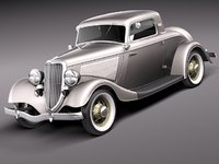 Ford 1933-1934 Coupe 3 window stock