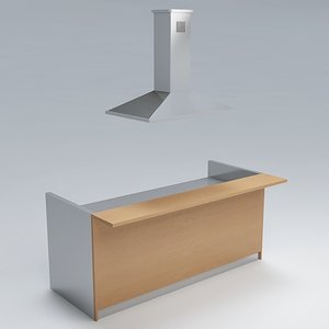 3d kitchen counter model