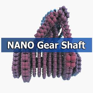 maya molecular gear shaft
