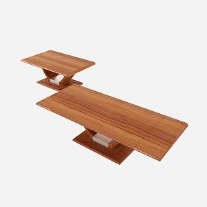 free design wooden table 3d model