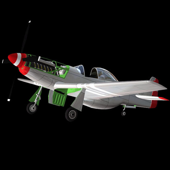 p51 mustang ww2 fighter 3d model