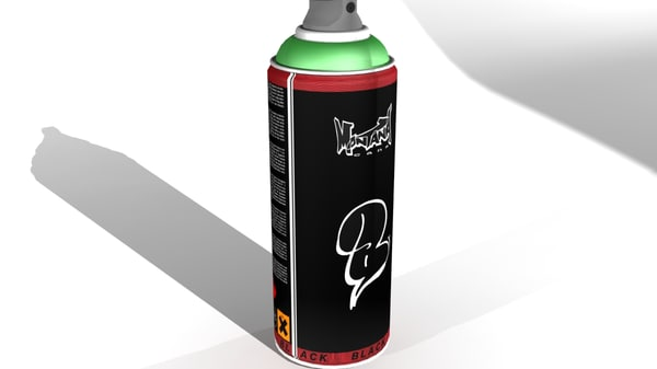 3ds max spray montana black