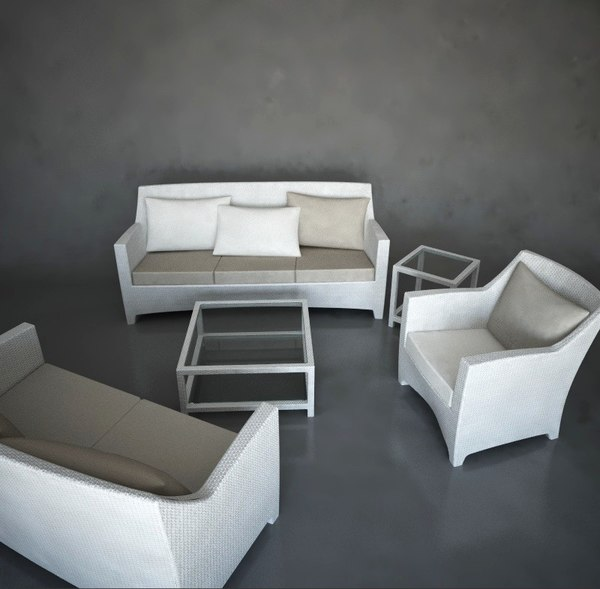 3d outdoor sofas lounge chair model