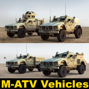 3d m-atv military vehicles