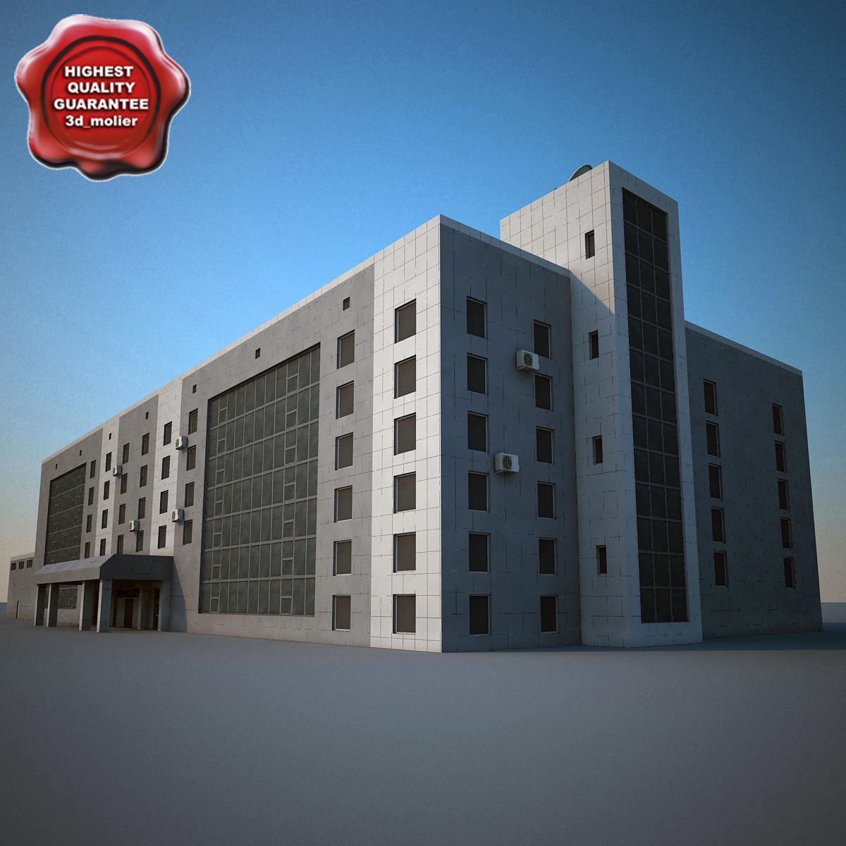 3dsmax industrial building v3