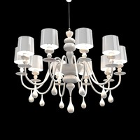 Masiero 389 eva s10 wite chandelier ceiling lamp art deco modern contemporay