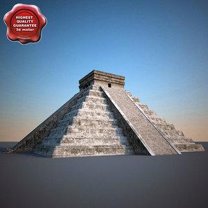 3dsmax mayan pyramid el castillo