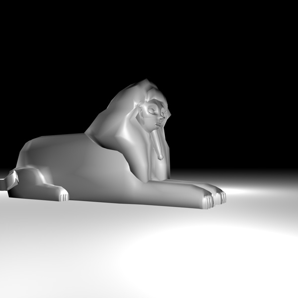 3d sphinx giza model