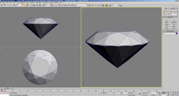 tolkowsky diamond brilliant cut 3d model