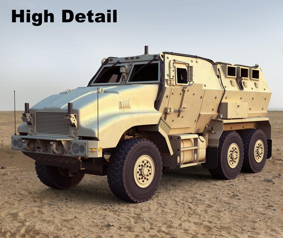 caiman mrap vehicle 3d model