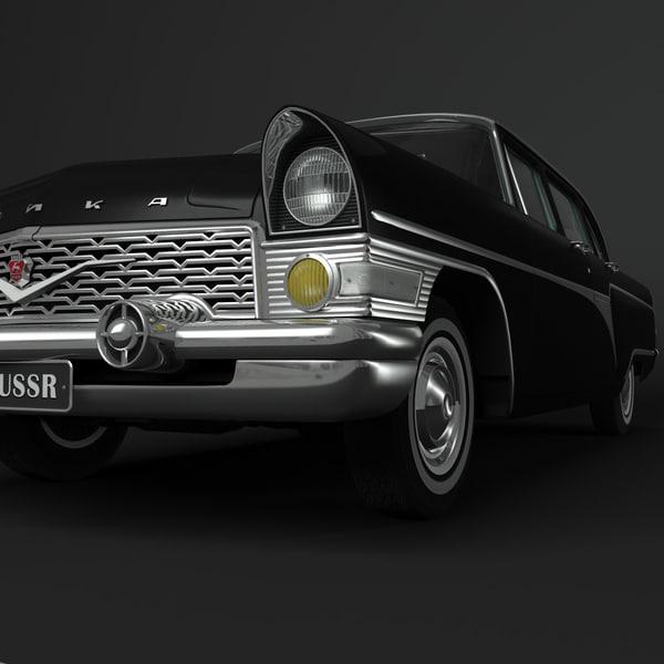 chaika car 3d model