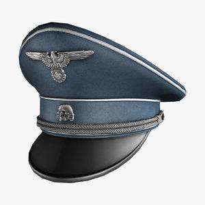 3d model german hat world war