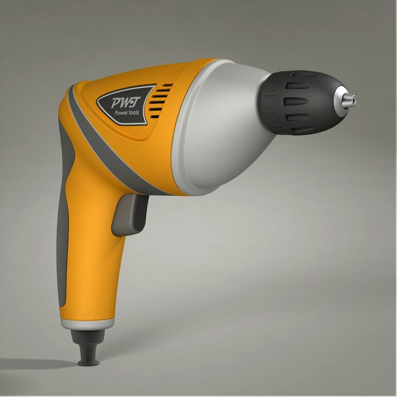 3ds max drill power tool