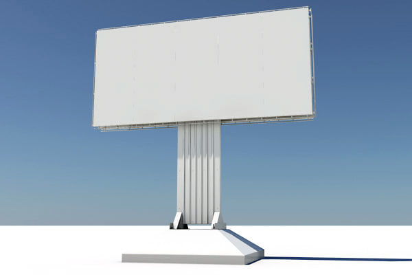 billboard highway 3d model