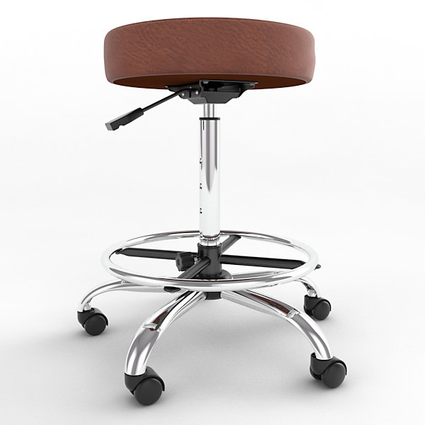 3d ergonomic stool height adjustment model