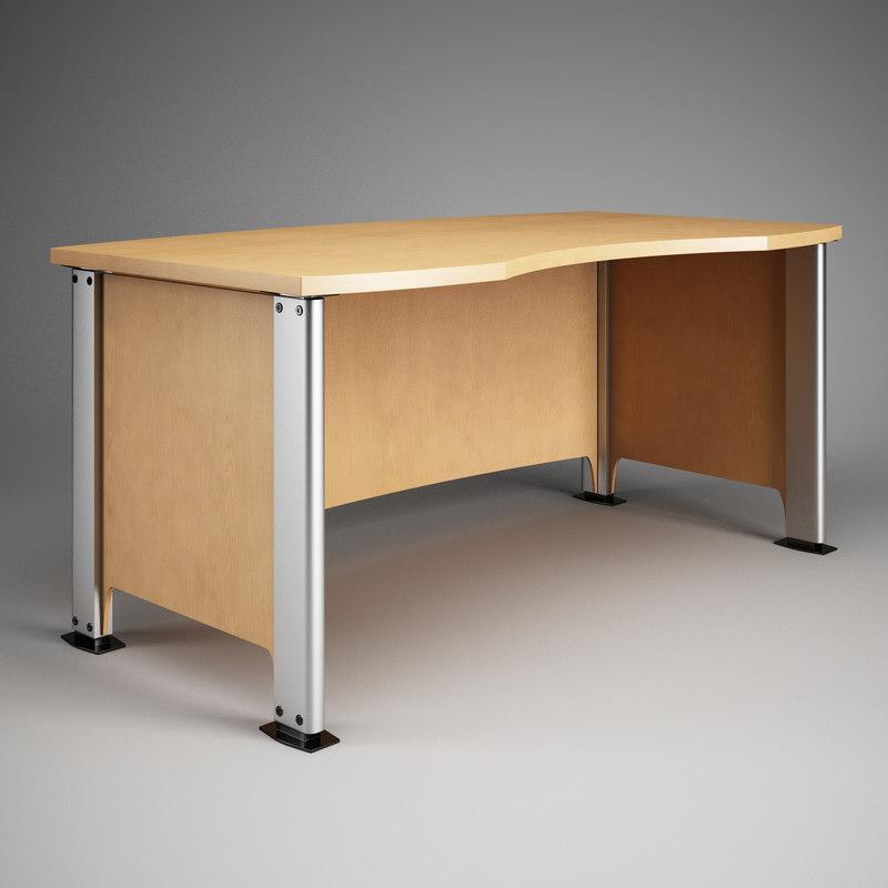 office desk 06 3d model