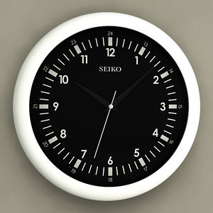 analog wall clock 3d max