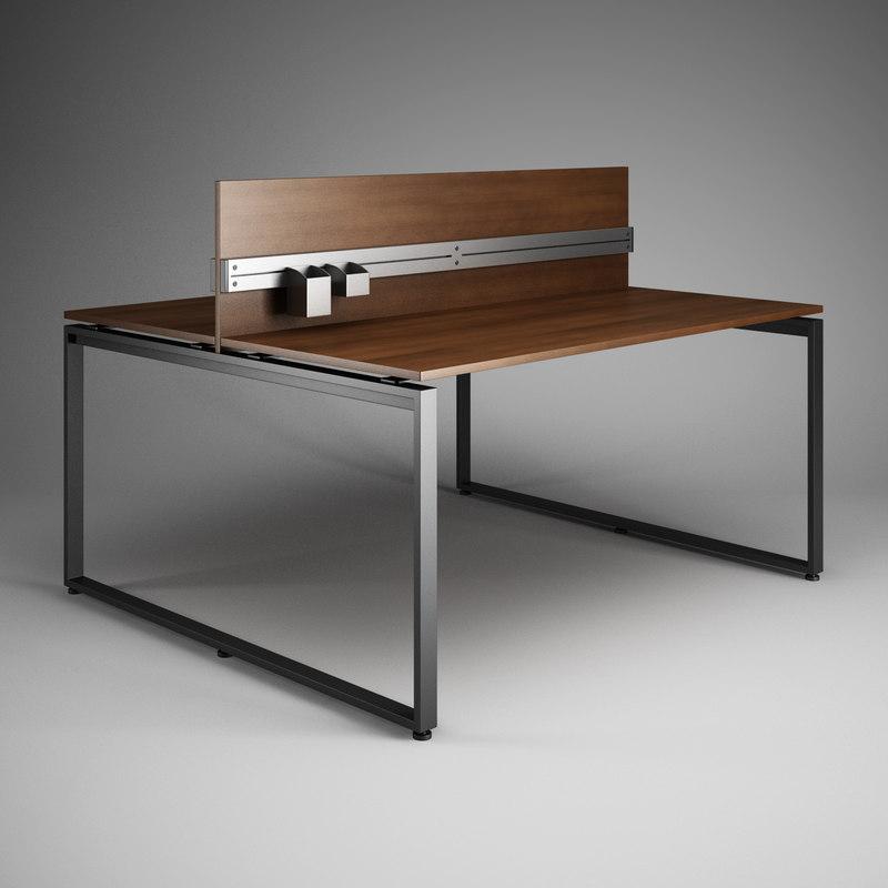 3d model office desk 28