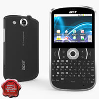 acer betouch e130 black 3d 3ds