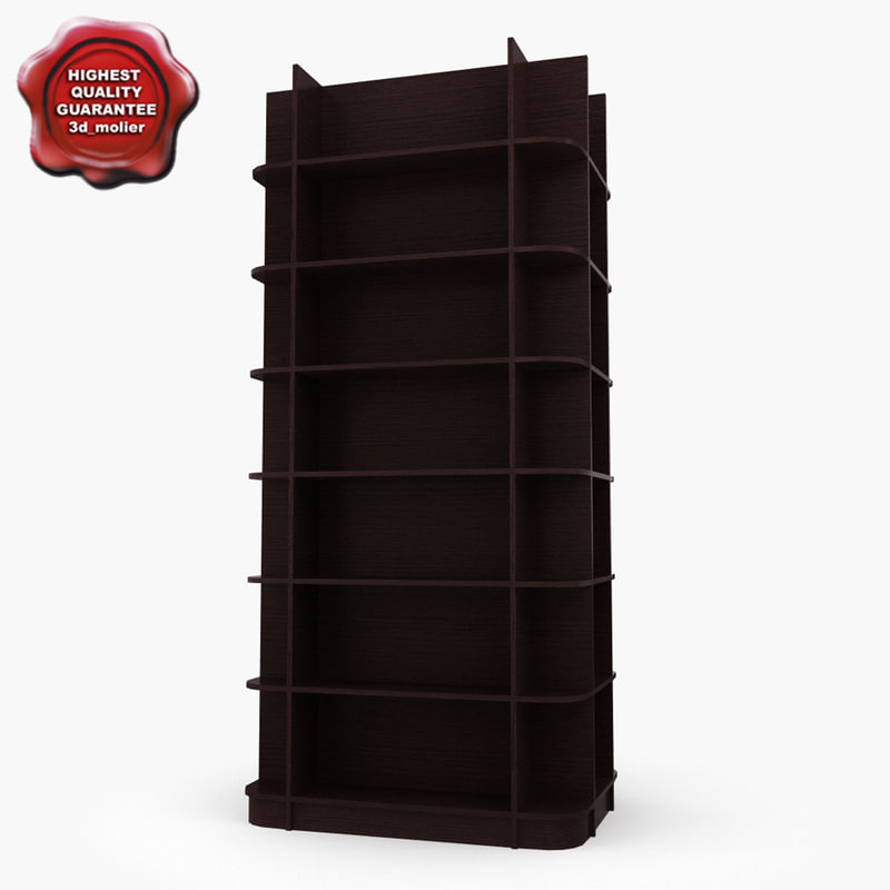 3ds max bookshelves modelled
