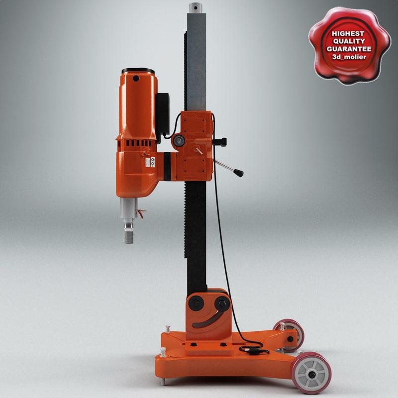 3ds max industrial drill press