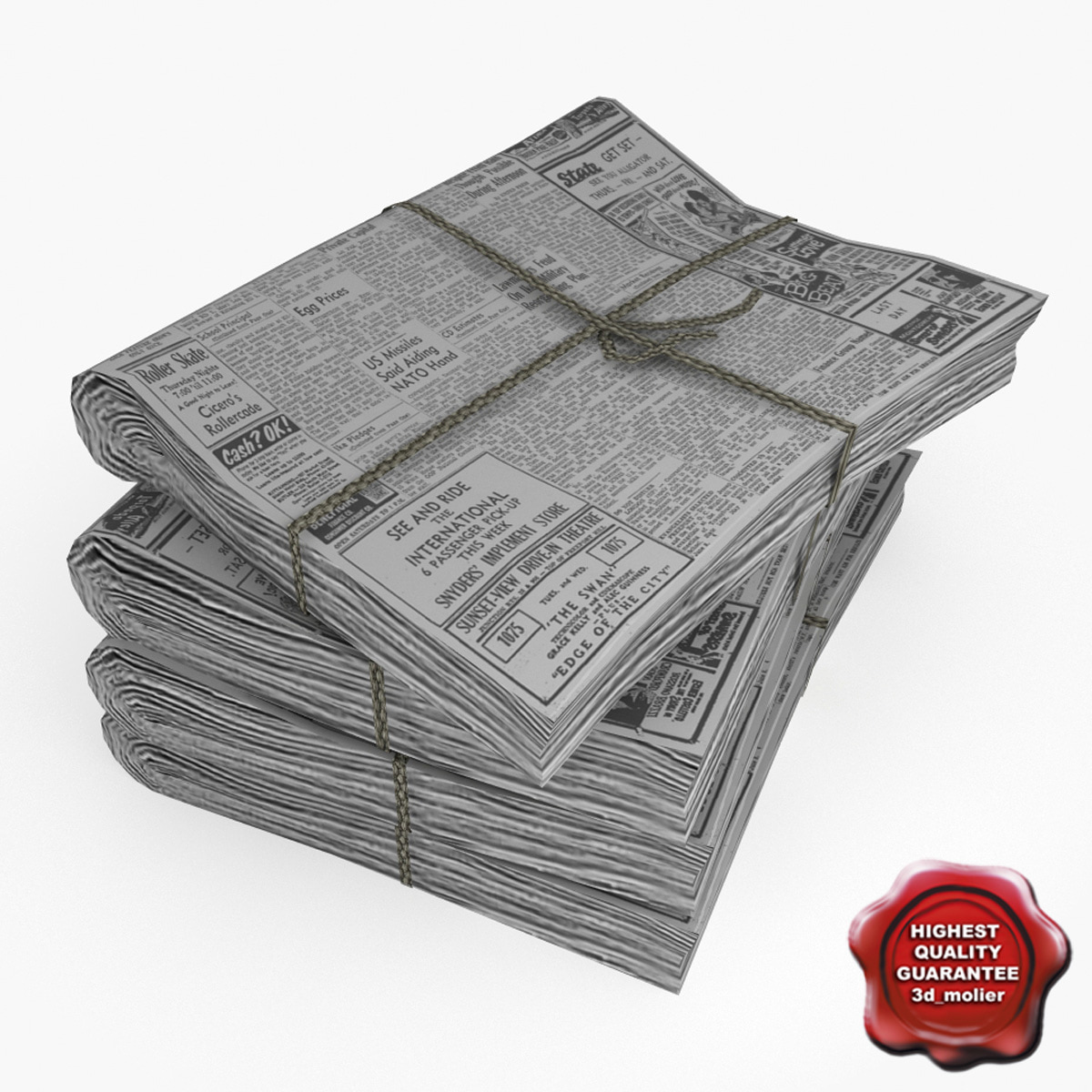 3ds max newspapers v7