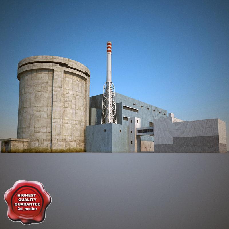 nuclear power plant v4 3d model