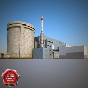 nuclear power plant v4 3d model
