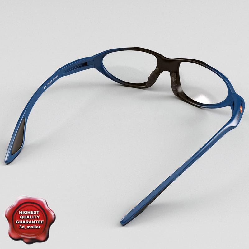 sport glasses swiss eye 3d model