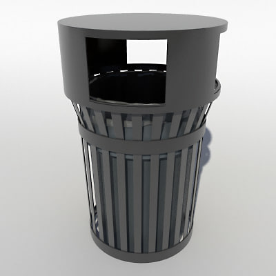 3d city trash model