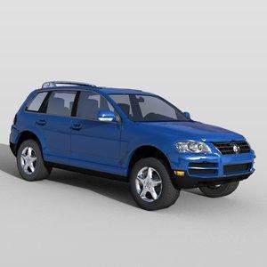 volkswagen touareg vehicle sports 3d max