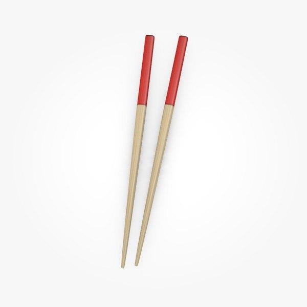 3d model of chopsticks