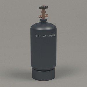gas cylinder 3d fbx