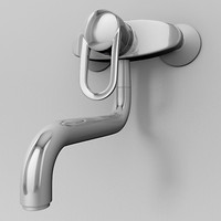Chrome Wall Mount Faucet 06