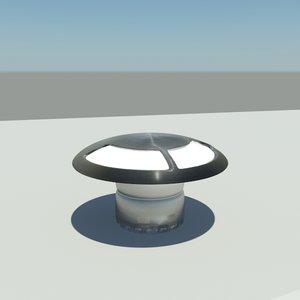 3d model light mushroom