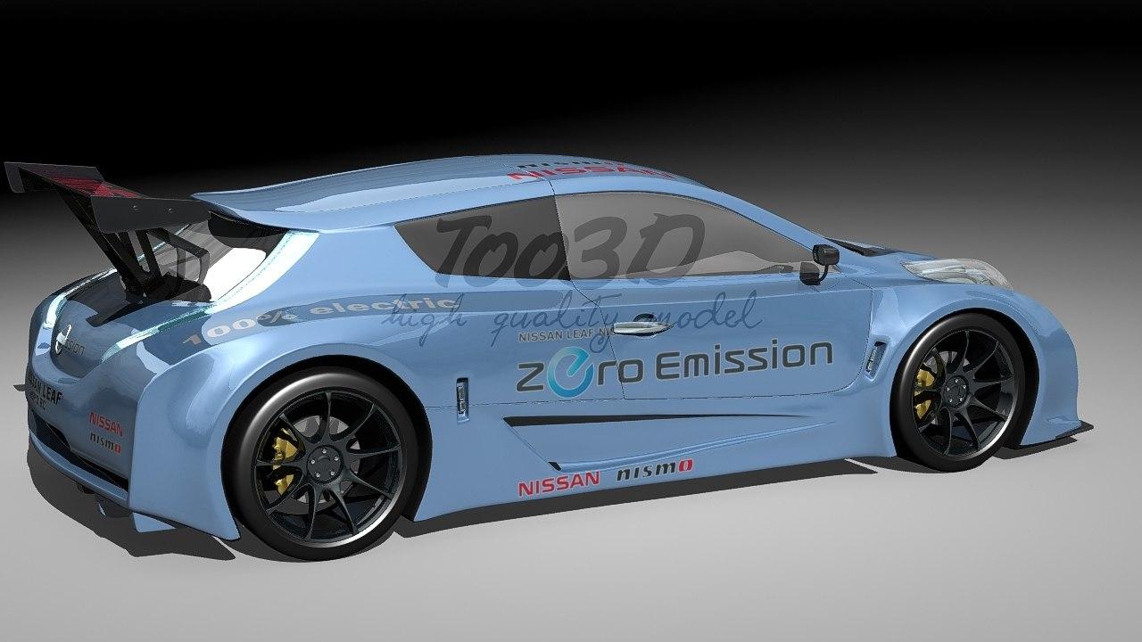 3d nissan electric racing