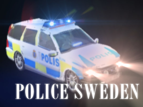 obj swedish cop car