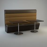 Restaurant Banquette | Vray 1.5 Materials
