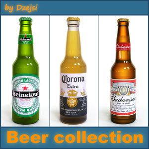 3d model beer bottles