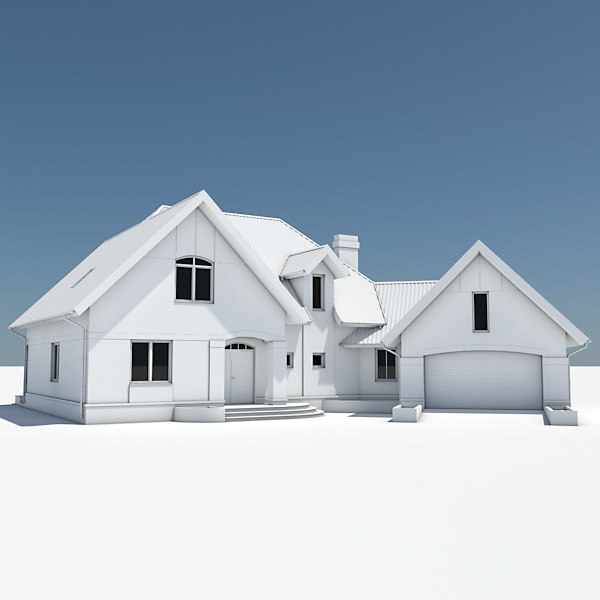 3ds max single house garage