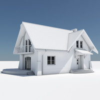single house 3d lwo