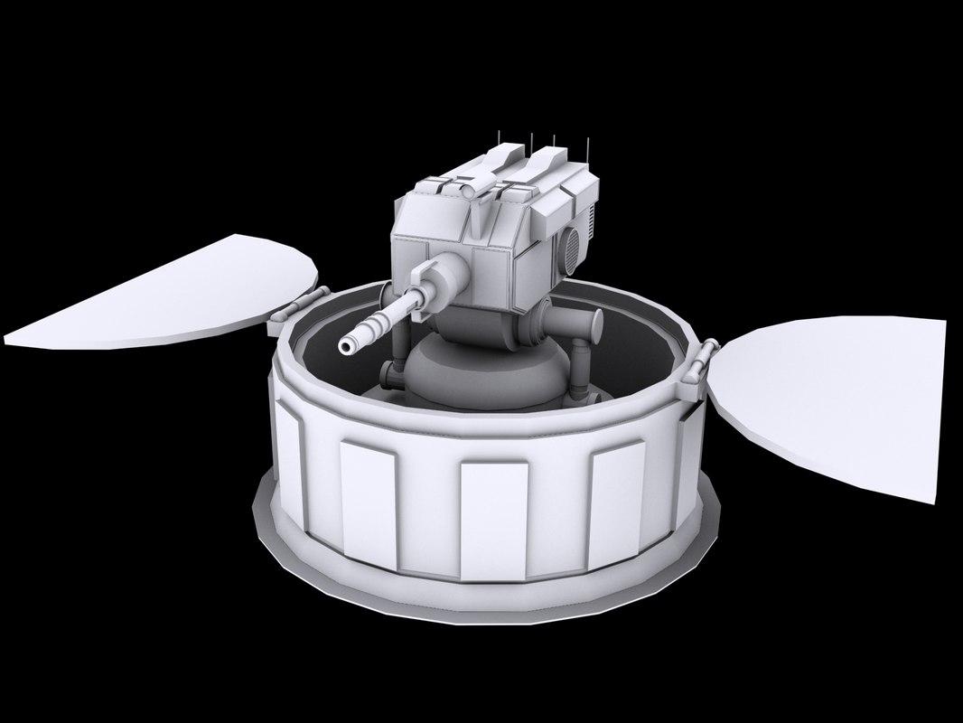 3d laser turret model